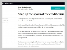 The Times - Snap up The Spoils