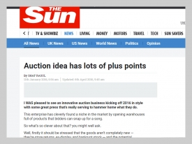 The Sun Auction Plus Points
