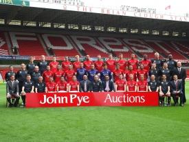 Nottingham Forest Squad John Pye Auctions Sponsors Photo 2012/13 season