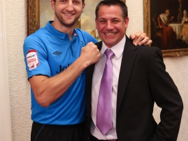 World Champion Boxer Carl Froch and John Pye Auctions Opeartions Director Paul Longson