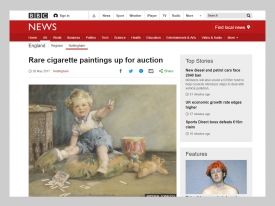 BBC News Rare Cigarette Paintings Aucition